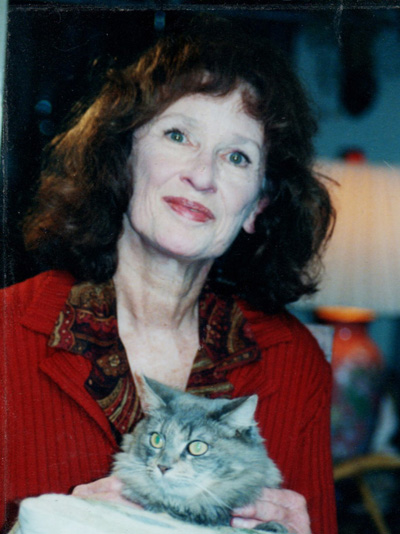Virginia Fuller with her cat Hannah